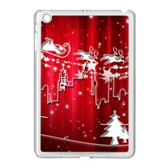 City Nicholas Reindeer View Apple Ipad Mini Case (white) by Nexatart