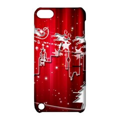 City Nicholas Reindeer View Apple Ipod Touch 5 Hardshell Case With Stand