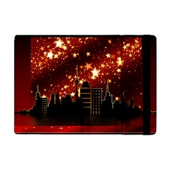 City Silhouette Christmas Star Apple Ipad Mini Flip Case