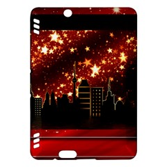 City Silhouette Christmas Star Kindle Fire Hdx Hardshell Case by Nexatart