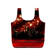 City Silhouette Christmas Star Full Print Recycle Bags (s)