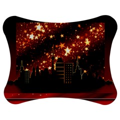 City Silhouette Christmas Star Jigsaw Puzzle Photo Stand (bow)