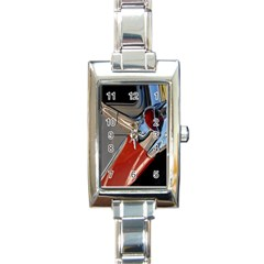 Classic Car Design Vintage Restored Rectangle Italian Charm Watch by Nexatart