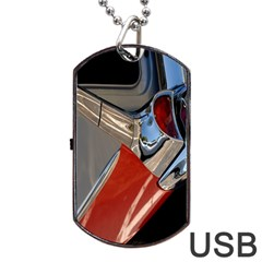 Classic Car Design Vintage Restored Dog Tag Usb Flash (one Side)