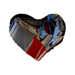 Classic Car Design Vintage Restored Standard 16  Premium Heart Shape Cushions by Nexatart