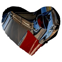 Classic Car Design Vintage Restored Large 19  Premium Flano Heart Shape Cushions