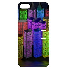City Metropolis Sea Of Light Apple Iphone 5 Hardshell Case With Stand