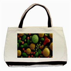 Colorized Pollen Macro View Basic Tote Bag