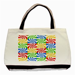 Colorful Abstract Creative Basic Tote Bag (two Sides) by Nexatart