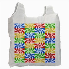 Colorful Abstract Creative Recycle Bag (one Side) by Nexatart