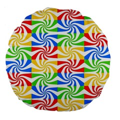 Colorful Abstract Creative Large 18  Premium Flano Round Cushions by Nexatart