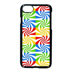Colorful Abstract Creative Apple Iphone 7 Seamless Case (black) by Nexatart