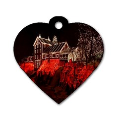 Clifton Mill Christmas Lights Dog Tag Heart (one Side)