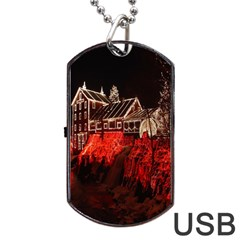 Clifton Mill Christmas Lights Dog Tag Usb Flash (one Side)