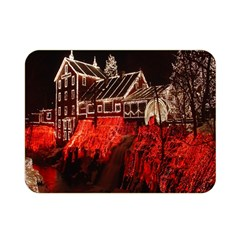 Clifton Mill Christmas Lights Double Sided Flano Blanket (mini)  by Nexatart