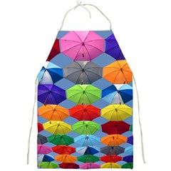 Color Umbrella Blue Sky Red Pink Grey And Green Folding Umbrella Painting Full Print Aprons