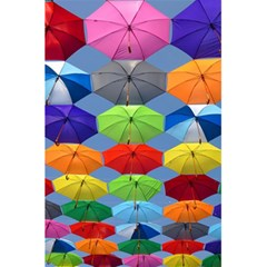 Color Umbrella Blue Sky Red Pink Grey And Green Folding Umbrella Painting 5 5  X 8 5  Notebooks by Nexatart