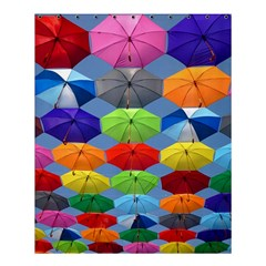 Color Umbrella Blue Sky Red Pink Grey And Green Folding Umbrella Painting Shower Curtain 60  X 72  (medium)