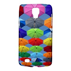 Color Umbrella Blue Sky Red Pink Grey And Green Folding Umbrella Painting Galaxy S4 Active