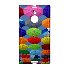Color Umbrella Blue Sky Red Pink Grey And Green Folding Umbrella Painting Nokia Lumia 1520