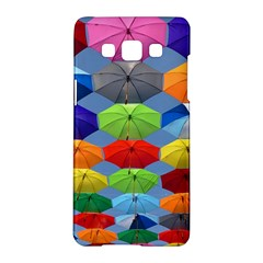 Color Umbrella Blue Sky Red Pink Grey And Green Folding Umbrella Painting Samsung Galaxy A5 Hardshell Case