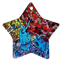 Colorful Graffiti Art Ornament (star)