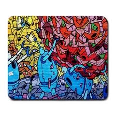 Colorful Graffiti Art Large Mousepads by Nexatart