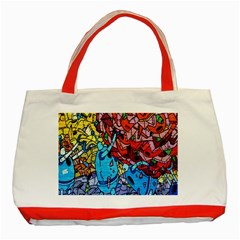 Colorful Graffiti Art Classic Tote Bag (red) by Nexatart