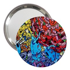 Colorful Graffiti Art 3  Handbag Mirrors by Nexatart