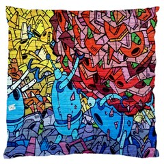 Colorful Graffiti Art Standard Flano Cushion Case (one Side)