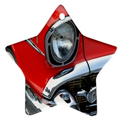 Classic Car Red Automobiles Ornament (star)