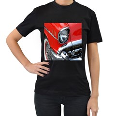 Classic Car Red Automobiles Women s T-Shirt (Black) (Two Sided)