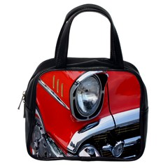 Classic Car Red Automobiles Classic Handbags (one Side)