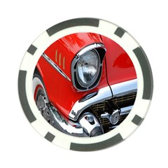 Classic Car Red Automobiles Poker Chip Card Guard (10 Pack)