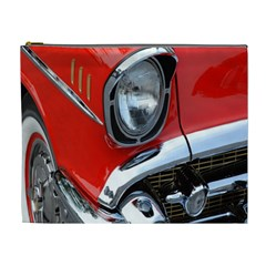 Classic Car Red Automobiles Cosmetic Bag (XL)