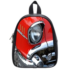 Classic Car Red Automobiles School Bags (small)  by Nexatart