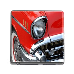 Classic Car Red Automobiles Memory Card Reader (square)