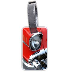 Classic Car Red Automobiles Luggage Tags (two Sides)
