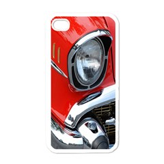 Classic Car Red Automobiles Apple Iphone 4 Case (white)