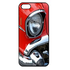 Classic Car Red Automobiles Apple Iphone 5 Seamless Case (black)