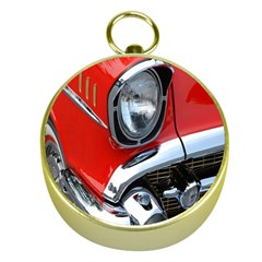 Classic Car Red Automobiles Gold Compasses