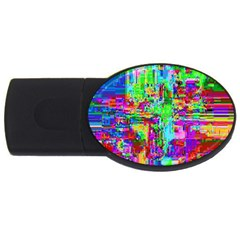 Compression Pattern Generator USB Flash Drive Oval (2 GB) by Nexatart