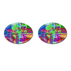 Compression Pattern Generator Cufflinks (oval) by Nexatart