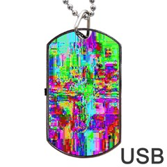 Compression Pattern Generator Dog Tag Usb Flash (two Sides)