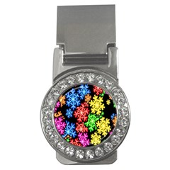 Colourful Snowflake Wallpaper Pattern Money Clips (CZ)  by Nexatart