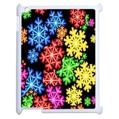 Colourful Snowflake Wallpaper Pattern Apple Ipad 2 Case (white)