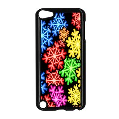 Colourful Snowflake Wallpaper Pattern Apple Ipod Touch 5 Case (black) by Nexatart
