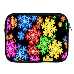 Colourful Snowflake Wallpaper Pattern Apple Ipad 2/3/4 Zipper Cases by Nexatart
