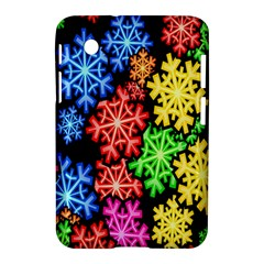 Colourful Snowflake Wallpaper Pattern Samsung Galaxy Tab 2 (7 ) P3100 Hardshell Case
