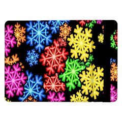 Colourful Snowflake Wallpaper Pattern Samsung Galaxy Tab Pro 12 2  Flip Case by Nexatart
